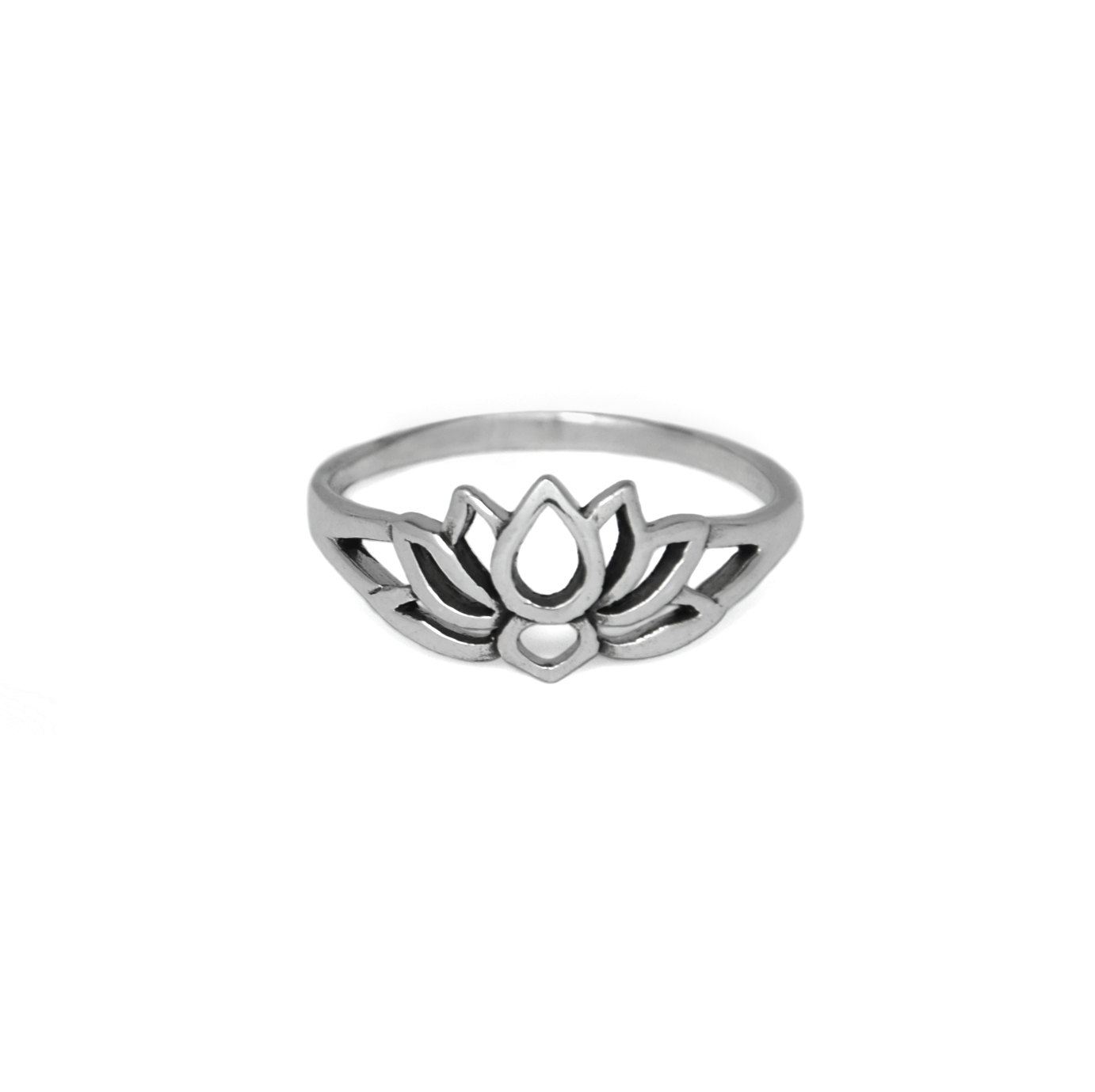 Sterling Silver Silloutte Lotus Flower Ring Evyral