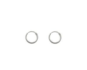 Small Silver Hoop Earrings, Solid 925 Sterling Silver Earrings, 10mm Silver Hoops, Cartilage Hoops , Minimalist Jewelry
