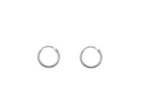 Small Silver Hoop Earrings, Solid 925 Sterling Silver Earrings, 12mm Silver Hoops, Cartilage Hoops , Minimalist Jewelry