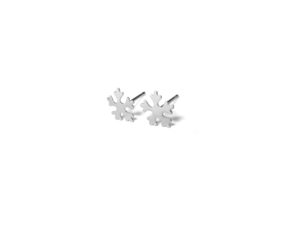 Silver Snowflake Stud Earrings, 925 Sterling Silver Studs, Gifts for Her, Minimalist Jewelry
