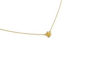 Tiny Gold Flower Necklace, Simple Flower Pendant Necklace, Gift for Her, Minimalist Jewelry