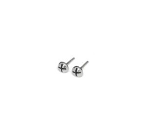 Silver Screw Stud Post Earrings, 925 Sterling Silver Hardware Studs, Tiny Phillips Screw Head Studs, Unisex Jewelry