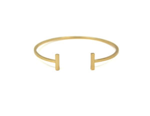 Gold Bar Bangle Bracelet, Gold plated Bar Bracelet, Stacking Bangles, Gifts for Her