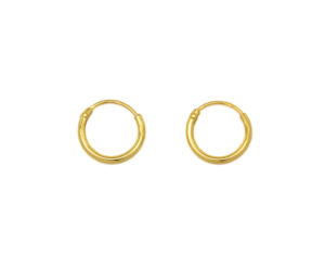 Tiny Gold Hoop Earrings, Small Gold Earrings, 8mm Silver Hoops, Cartilage Hoops , Minimalist Jewelry