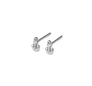 Tiny Sterling Silver Anchor Stud Earrings, 925 Silver Sailor Earrings, Silver Jewelry, Gifts for Her