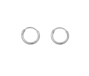 Tiny Silver Hoop Earrings, Solid 925 Sterling Silver Earrings, 8mm Silver Hoops, Cartilage Hoops , Minimalist Jewelry