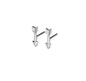Tiny Sterling Silver Arrow Stud Earrings, 925 Sterling Silver Studs, Small Arrows, Cupids Arrow, Gifts for Her,  Minimalist Jewelry