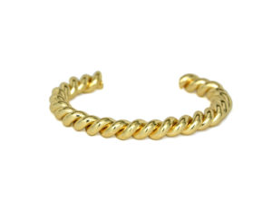 Gold Twisted Cuff Bracelet, Stacking Bracelets, Gift Ideas