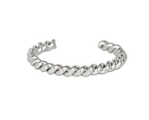 Silver Twisted Cuff Bracelet, Stacking Bracelets, Gift Ideas