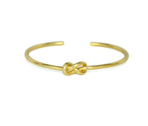 Gold Eternity Knot Cuff Bracelet, Adjustable Gold tone Infinity Love Knot Bracelet, Bridesmaid Bracelet, Gifts Ideas