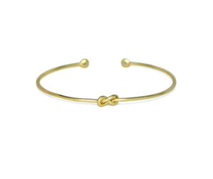 Tiny Gold Eternity Knot CZ Cuff Bracelet, Adjustable Gold tone Infinity Love Knot Bracelet, Bridesmaid Bracelet, Gifts Ideas