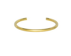 Classic Round Gold Cuff Bracelet, Simple Minimalist Gold plated Bangle Bracelet, Silver Jewelry