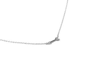 Tiny Silver Arrow Necklace, Solid 925 Sterling Silver Necklace, Delicate Bridesmaid Gift for Her, Minimalist Charm Necklace