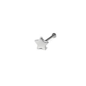 Silver Star Nose Stud, 925 Sterling Silver Jewelry, Tiny Star Design Nose Pin Stud, 20 Gauge Cartilage Piercings