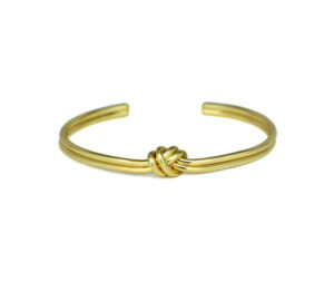 Gold Tied Knot Cuff Bracelet, Adjustable Gold tone Love Knot Bracelet, Bridesmaid Bracelet, Gifts Ideas