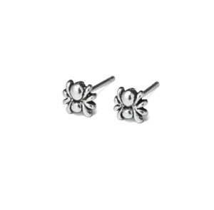 Tiny Spider Stud Earrings, 925 Sterling Silver Jewelry, Modern Oxidized Insect Studs, Gift Ideas