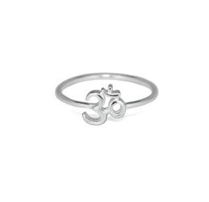 Silver Om Ring, Solid 925 Sterling Silver Jewelry, Namaste Chakra Jewelry, Spiritual Ohm Rings,  Gifts for Her