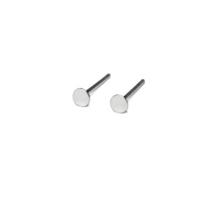 Tiny Silver Circle Shape Stud Earrings, 3mm Sterling Silver Earrings, 4mm Round Post earrings, 925 Sterling Silver Unisex Jewelry