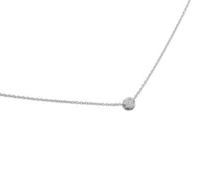 Silver Rose Flower Necklace, Solid 925 Sterling Silver Rose Pendant Necklace, Minimalist Everday Jewelry