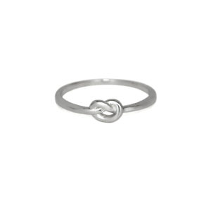 Tiny Silver Knot Ring, Solid 925 Sterling Silver, Eternity Knot Ring, Bridesmaid Gift