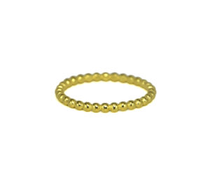 Gold Eternity Ball Band Ring, Gold Plain Bead Stacking Ring, Minimalist Jewelry