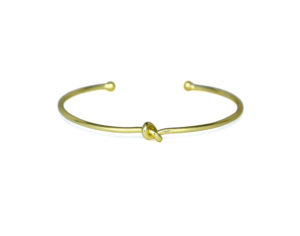 Thin Gold Knot Cuff Bracelet, Delicate Adjustable 18K Yellow Gold plated Love Knot Bracelet, Bridesmaid Gifts for Her