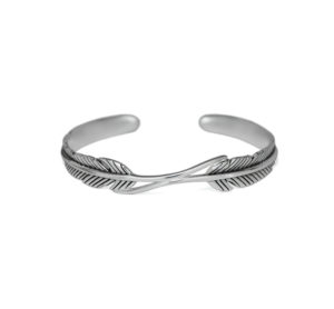 Sterling Silver Feather Cuff Bracelet, Adjoining Feathers Bangle, Adjustable Solid 925 Sterling Silver Bracelet, Boho Jewelry