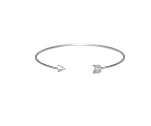 Thin Adjustable Open Arrow Cuff Bangle Bracelet, Silver or Gold Arrow Archery Bracelet, Stacking Bangles, Gifts for Her