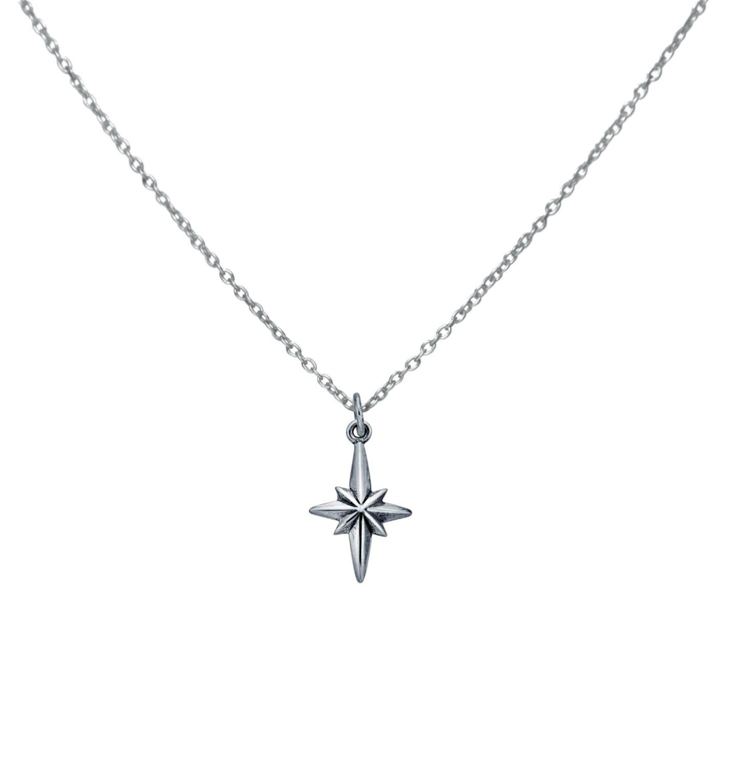 Silver north star pendant necklace evyral aloadofball Images
